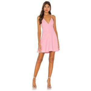 BCBGeneration Skater Dress Size 12 Pink Cross-Back